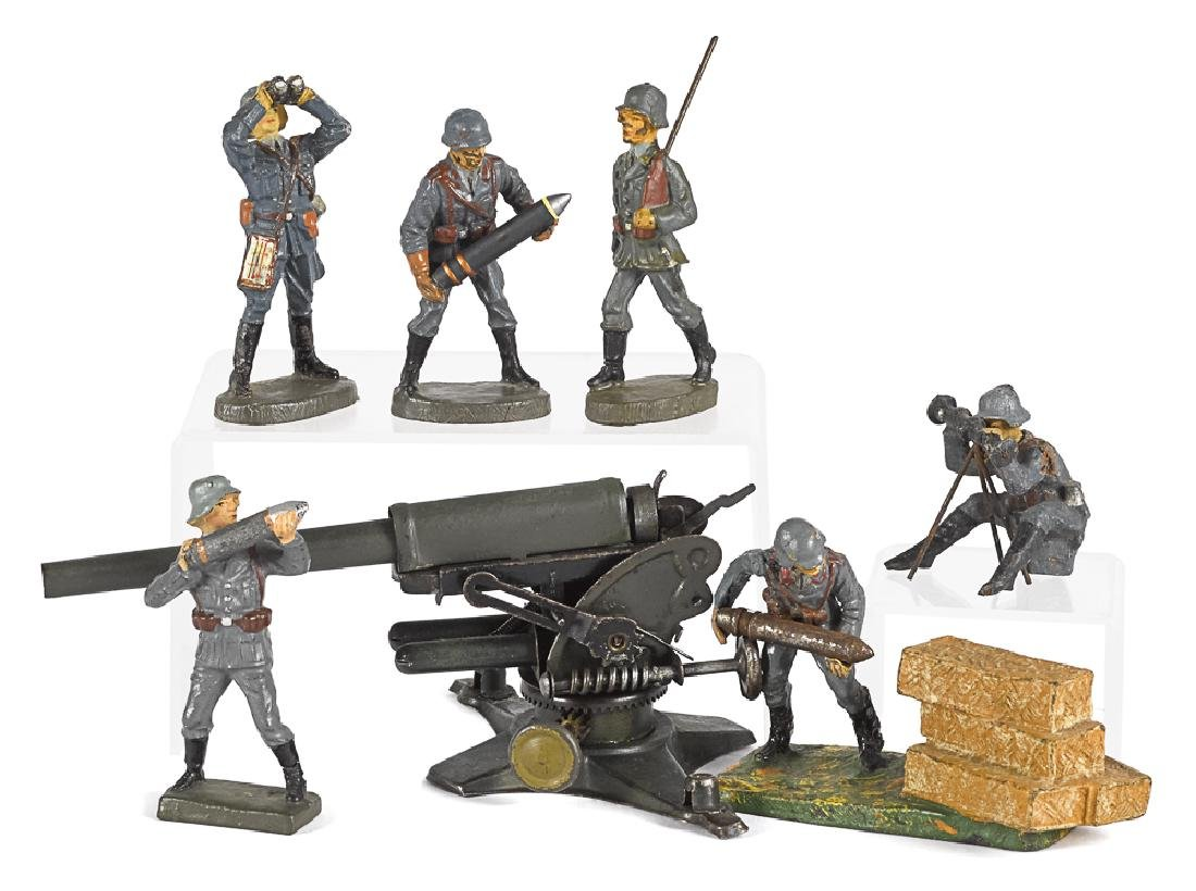Elastolin & Lineol painted composition soldiers