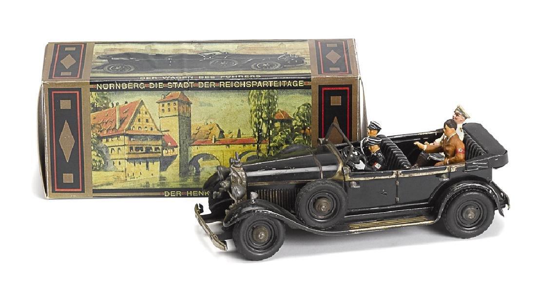 Tipp painted tin clockwork fuehrer car