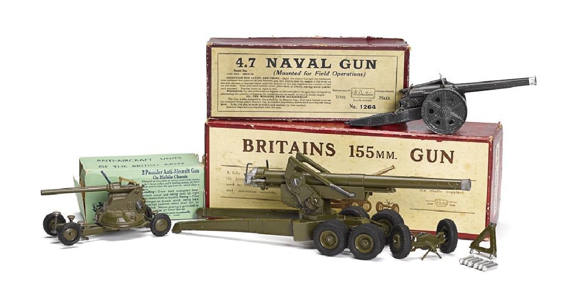 Three Britain's iron and steel guns