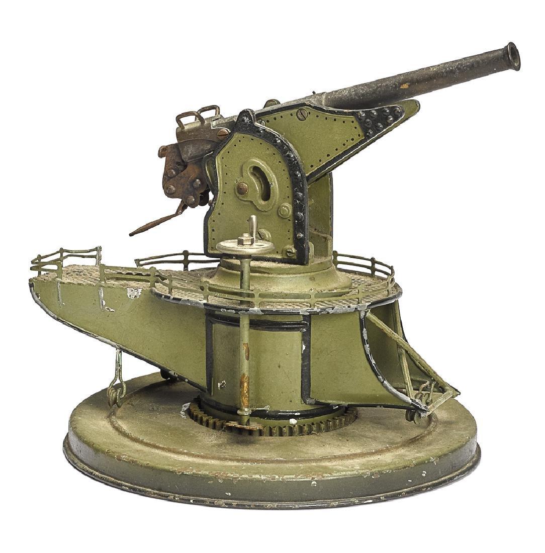 Marklin painted tin coastal defense gun