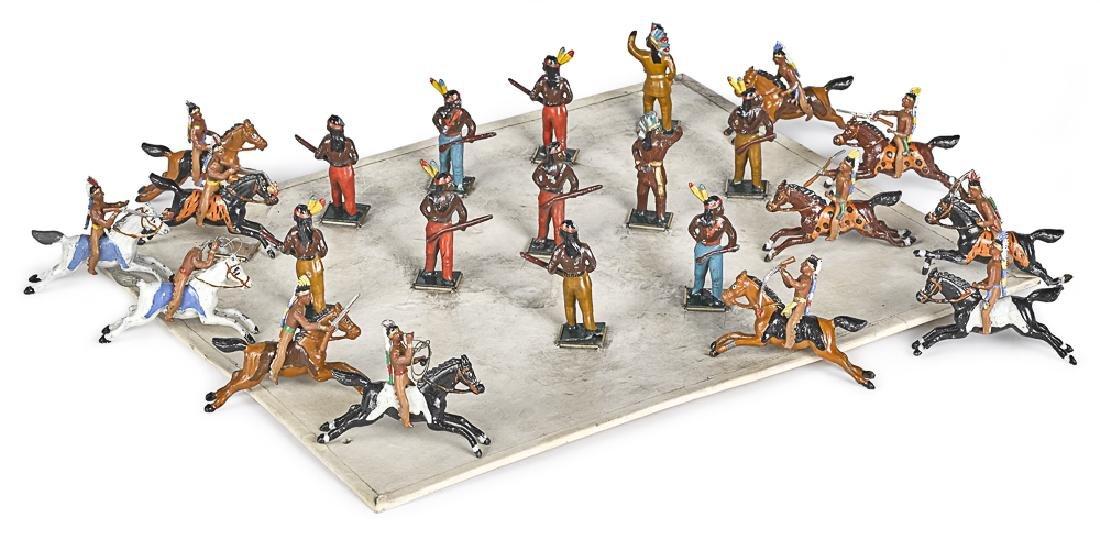 Heyde painted lead American Indian #1118 soldiers