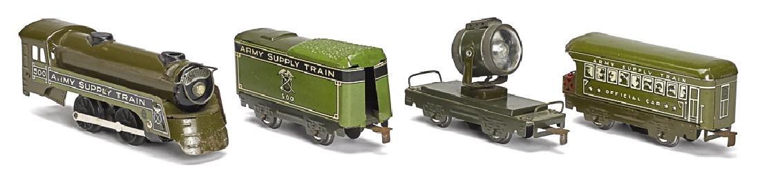 Marx tin wind-up Army Supply Train