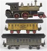Beggs live steam threepiece train set