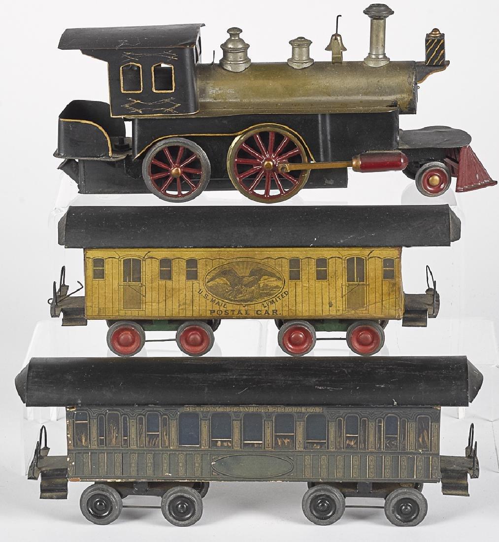 Beggs live steam three-piece train set