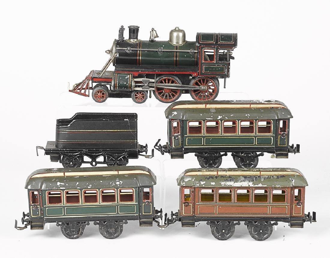 Karl Bub five-piece 0 gauge passenger train set