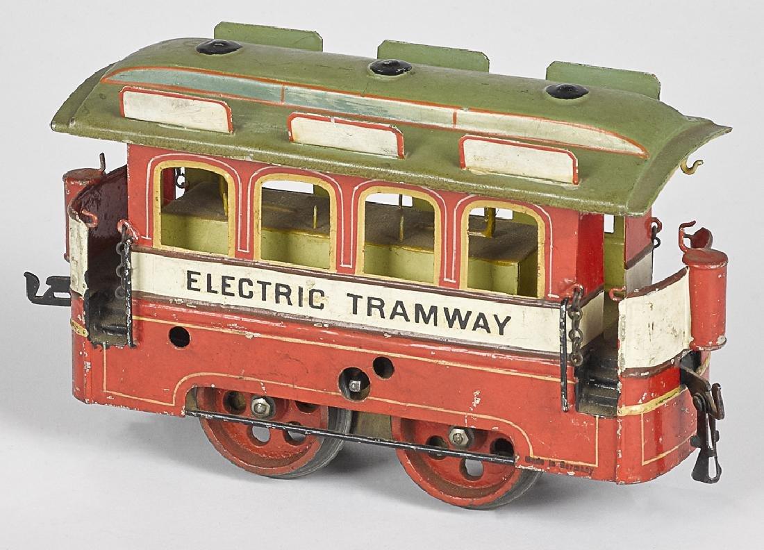 Scarce Marklin clockwork trolley car