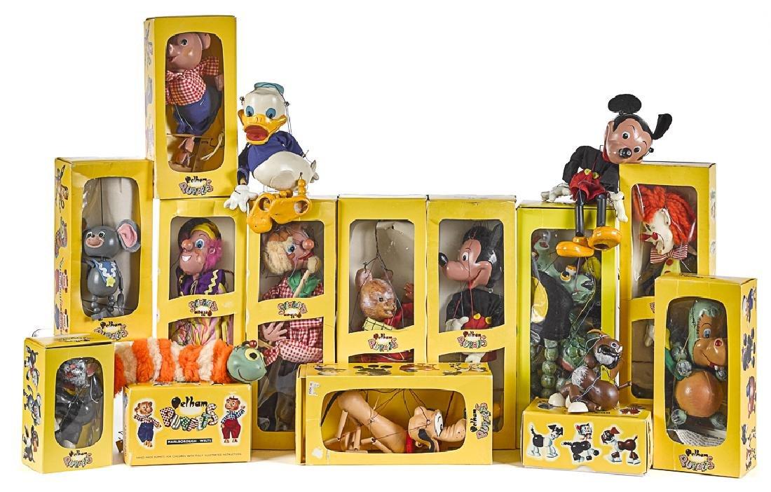 Eleven Pelham puppets