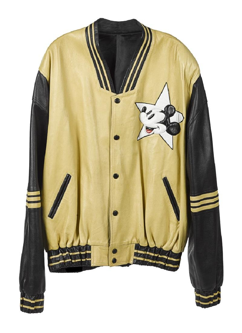 Jonathan Logan Mickey Mouse leather jacket