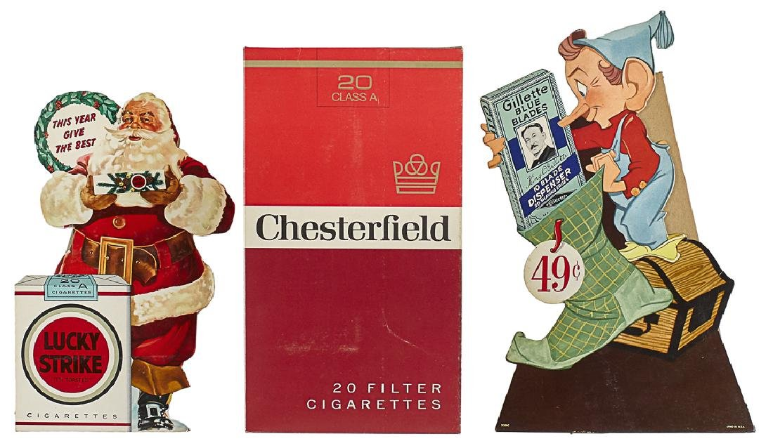 Two Christmas advertisement counter displays
