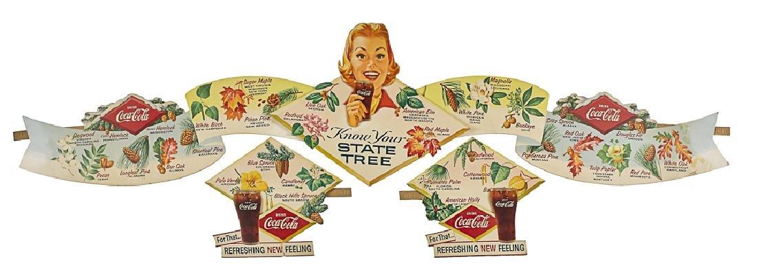 Cardboard Coca-Cola state tree festoon