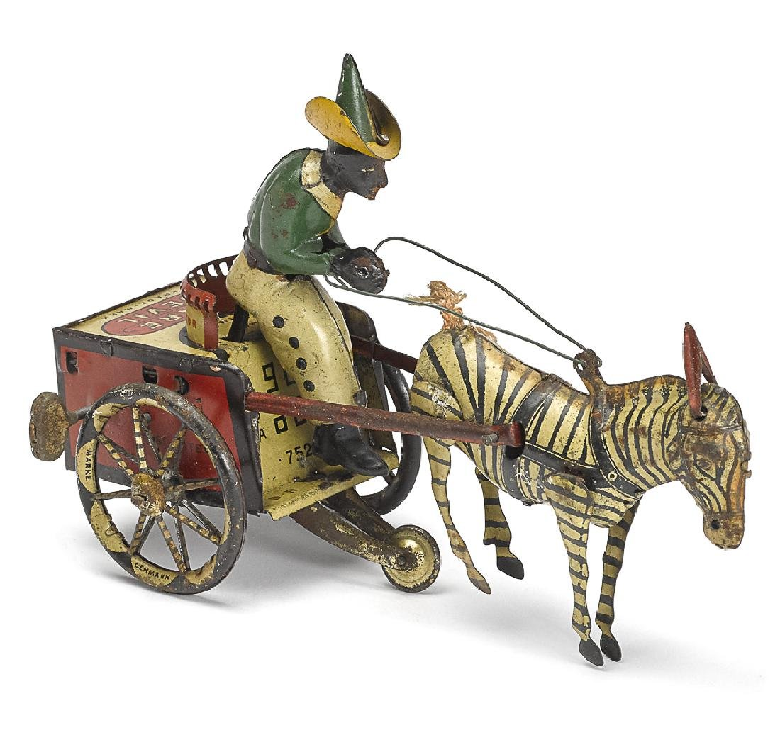 Lehmann tin lithograph clockwork Dare Devil cart