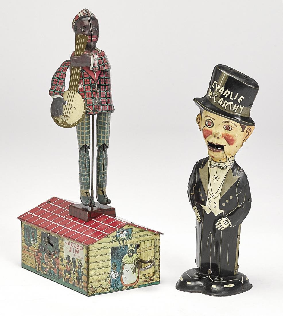 Two American tin lithograph clockwork toys