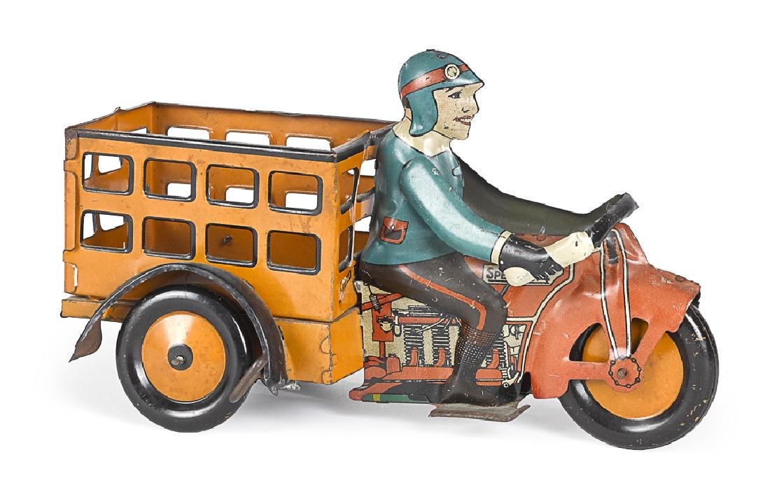 Marx tin lithograph Speed Boy wind-up motorcycle