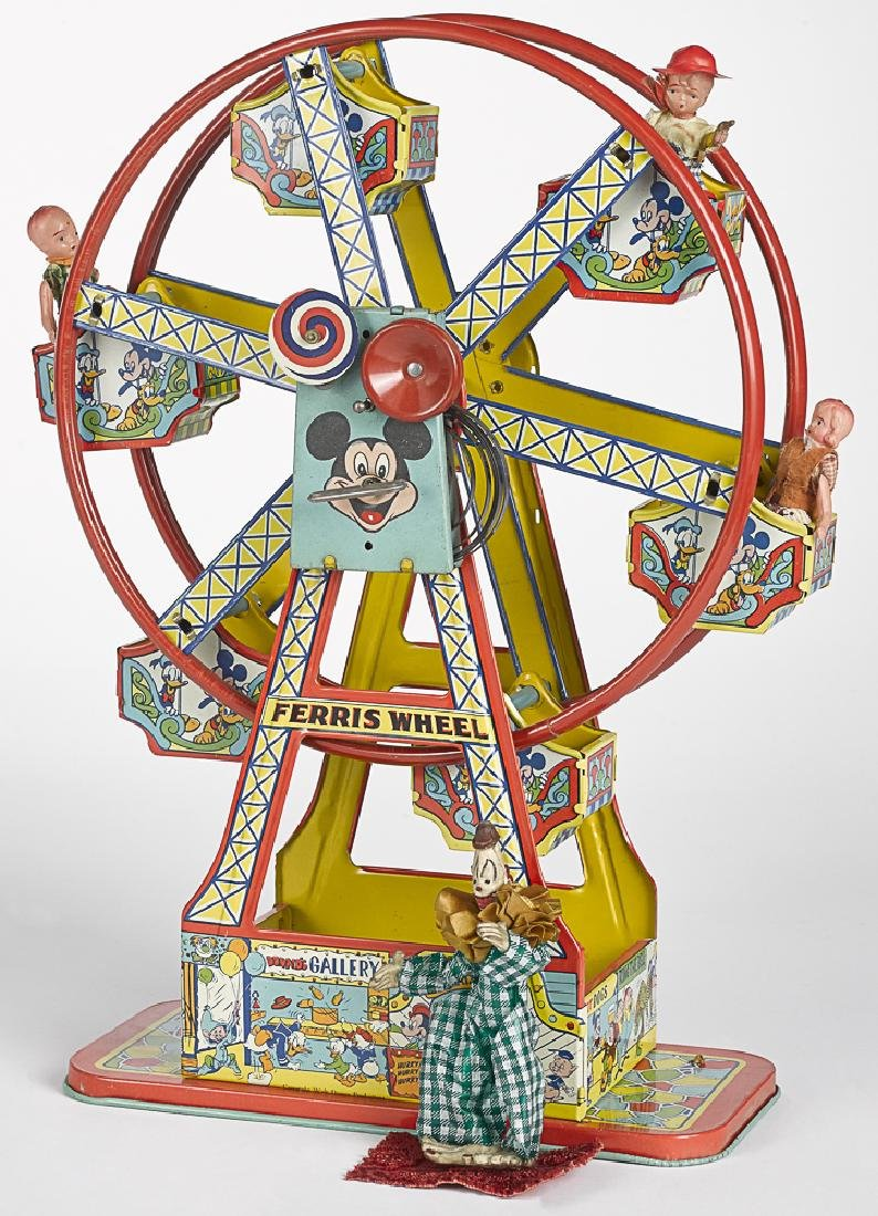 Chein Tin wind-up Mickey Mouse ferris wheel