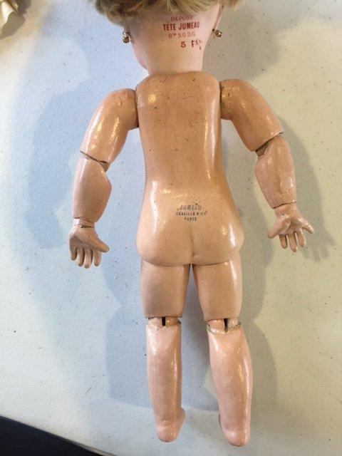 French Tete Jumeau bisque head doll - 3