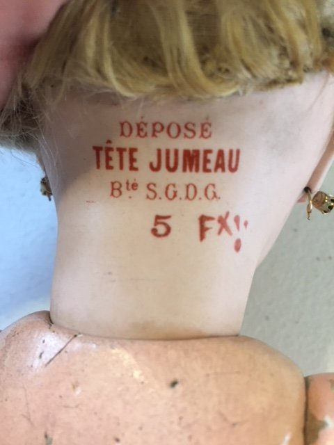 French Tete Jumeau bisque head doll - 9