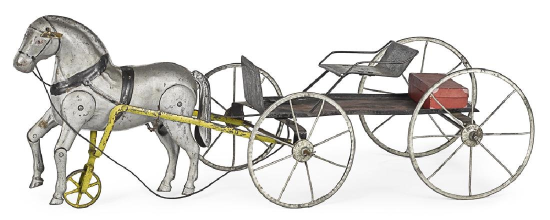 Mason & Parker painted horse drawn buckboard wago