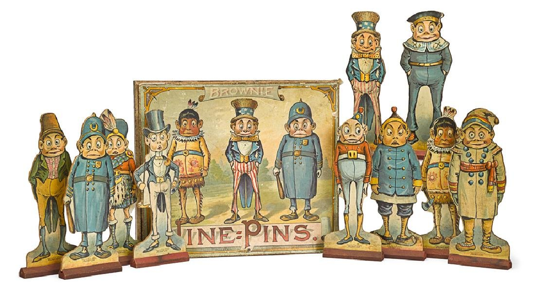 Mcloughlin Brothers Brownie Nine Pins game