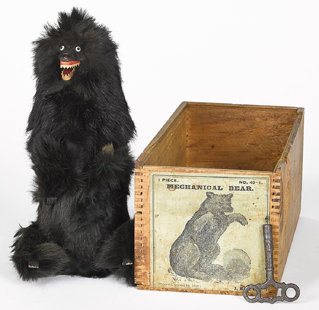 Ives, Blakeslee & Co fur covered mechanical bear
