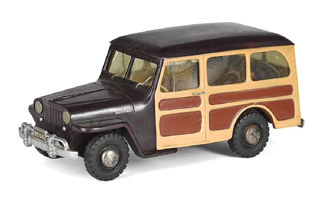 Al-toy cast Willys Overland Jeep station wagon