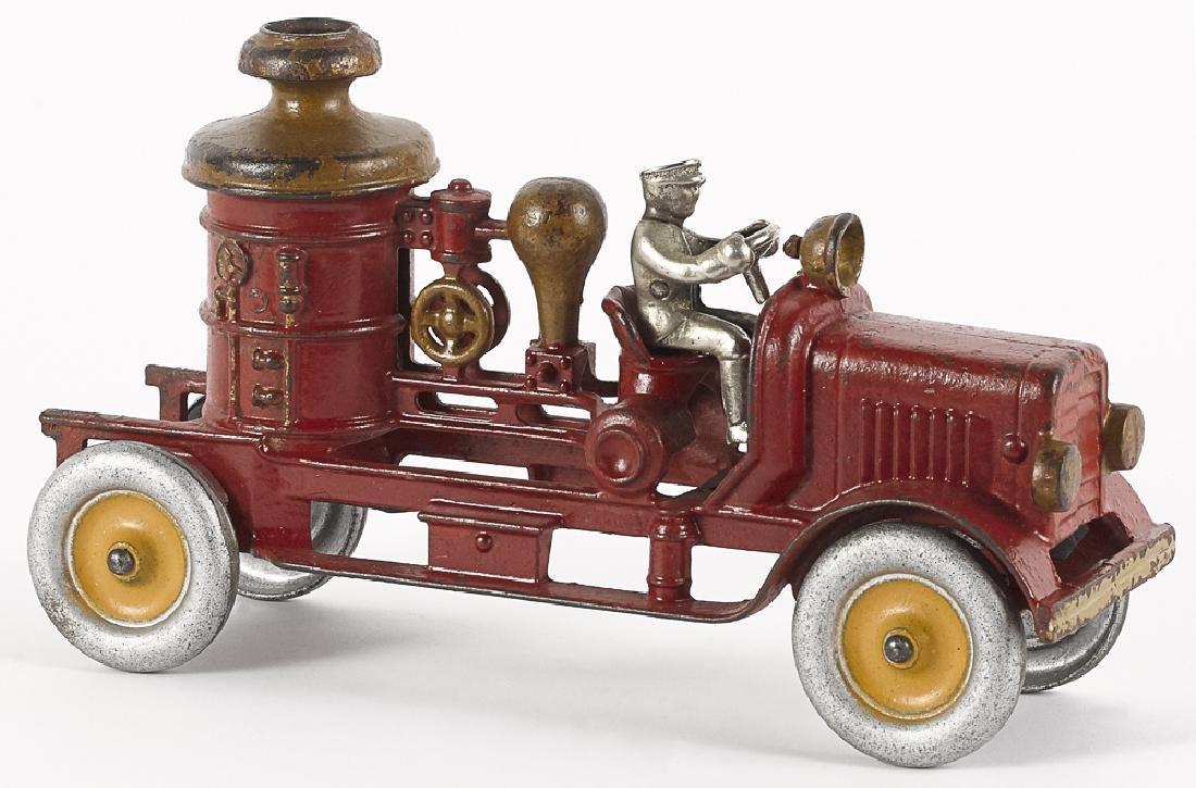 Hubley cast iron fire pumper