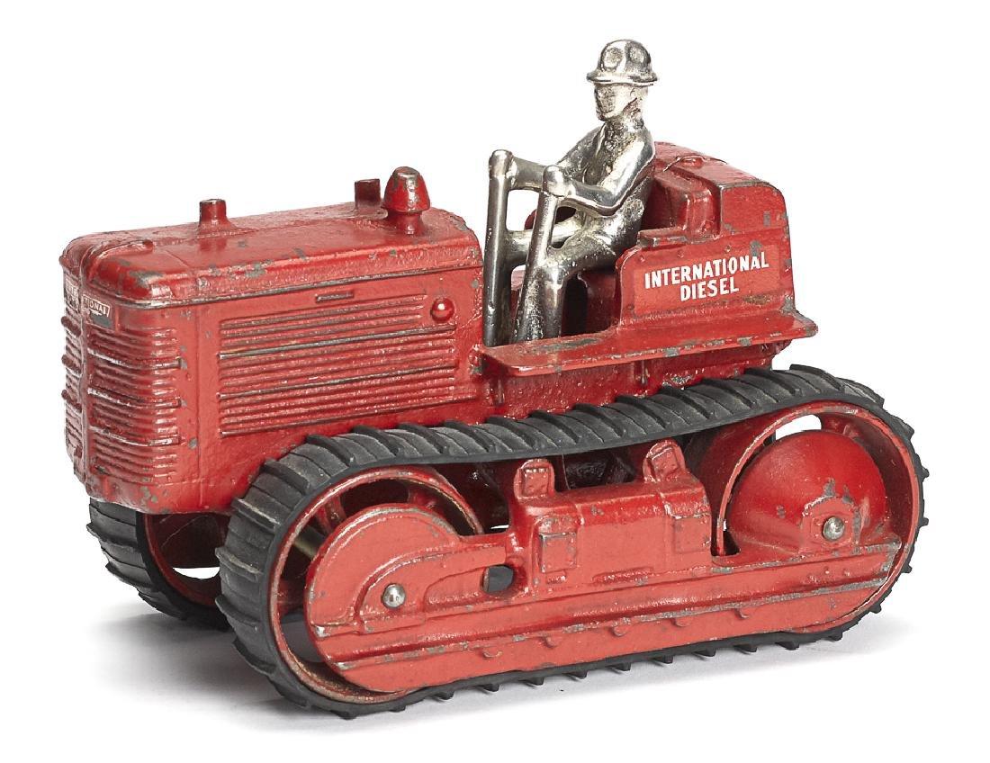 Arcade cast iron International Diesel tractor