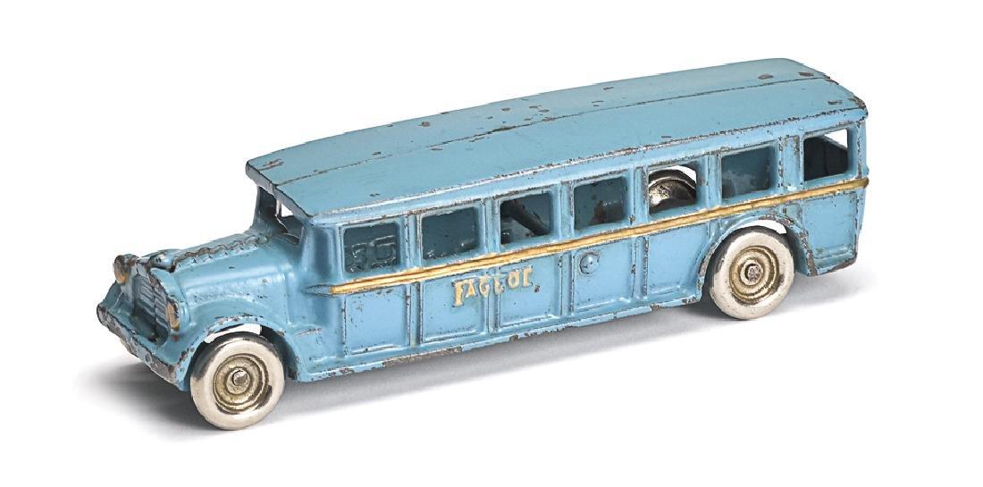 Arcade cast iron Fageol safety coach bus