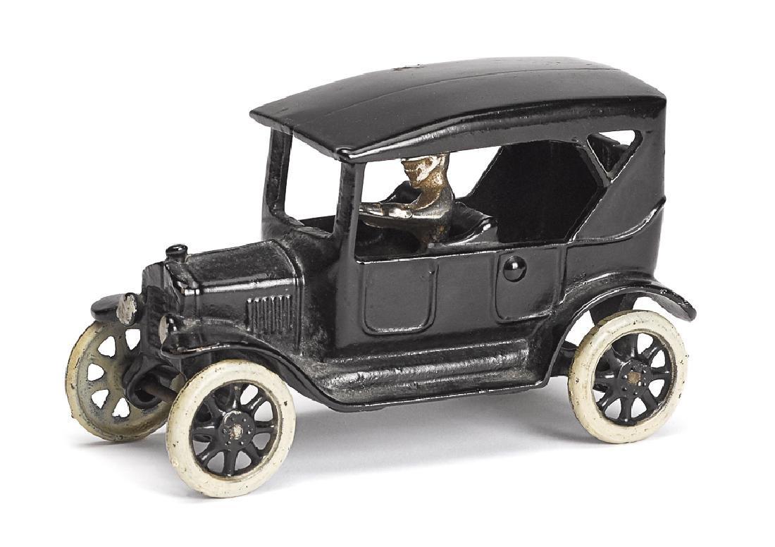 Arcade cast iron Model T touring car