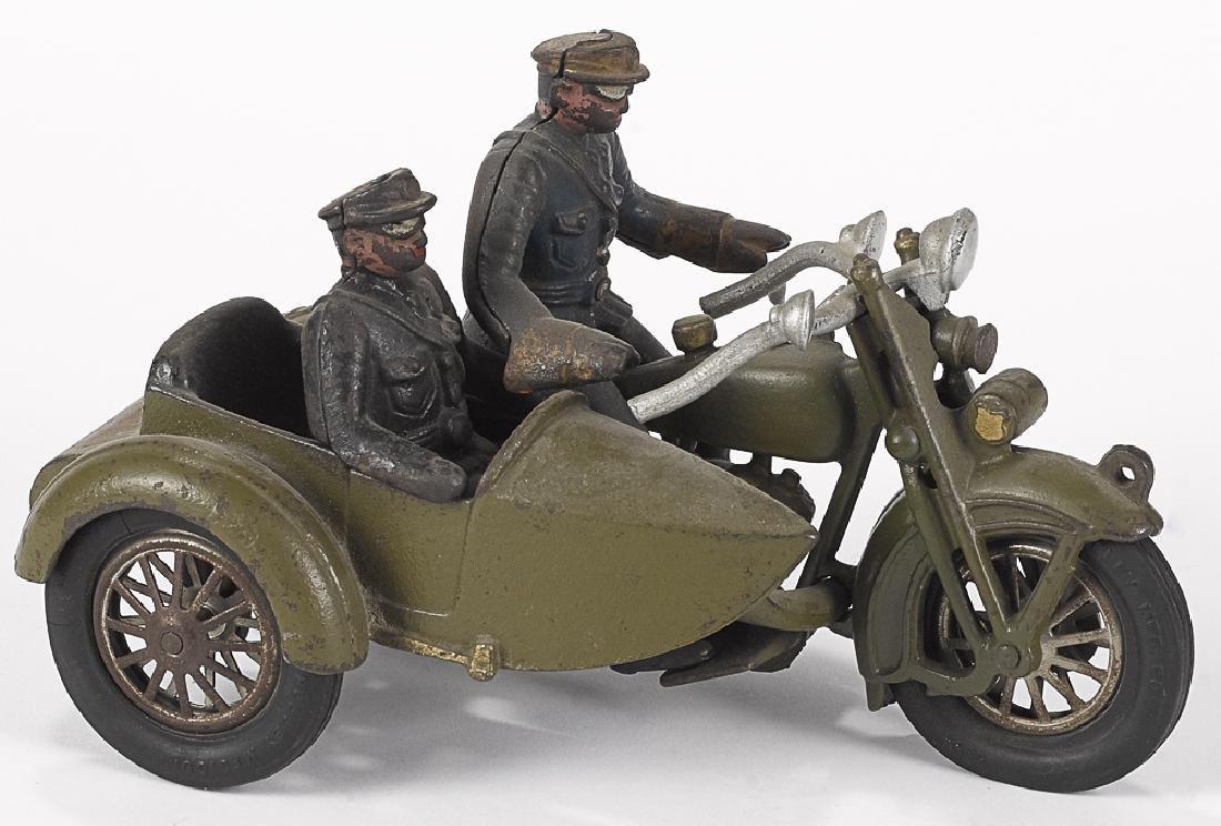 Hubley cast iron Harley Davidson police motorcycl