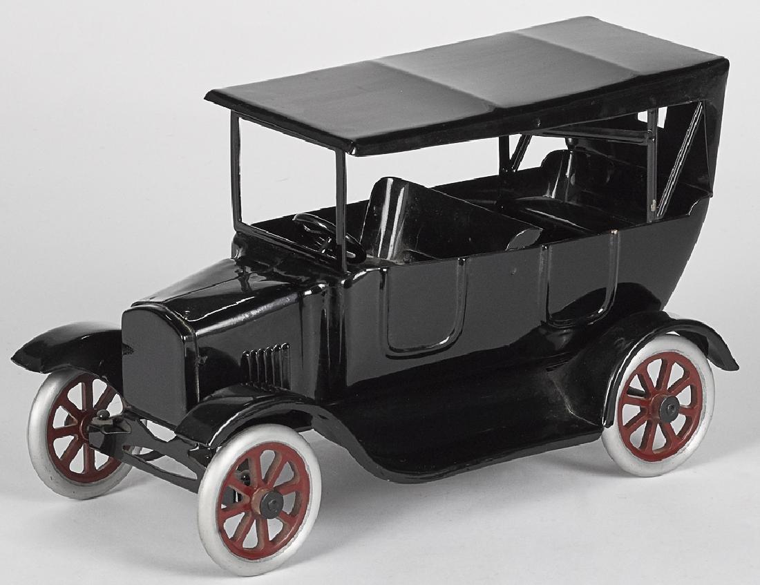 Cowdery Toy Works pressed steel Flivver car