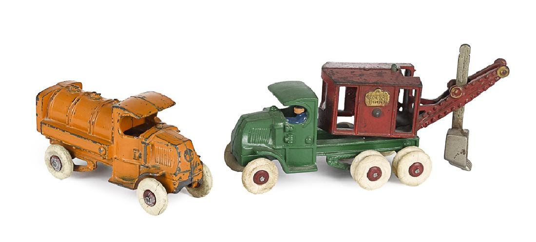 Two Hubley cast iron vehicles
