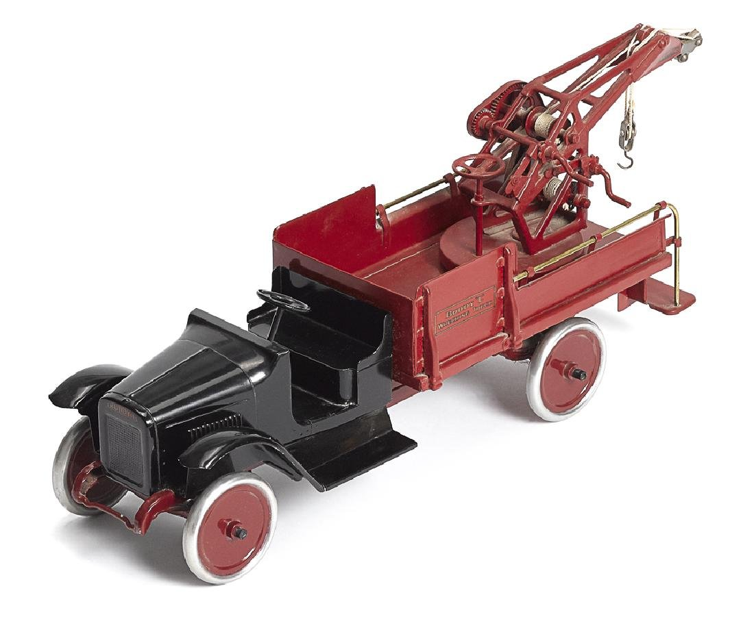 Restored Buddy L pressed steel Wrecking Truck