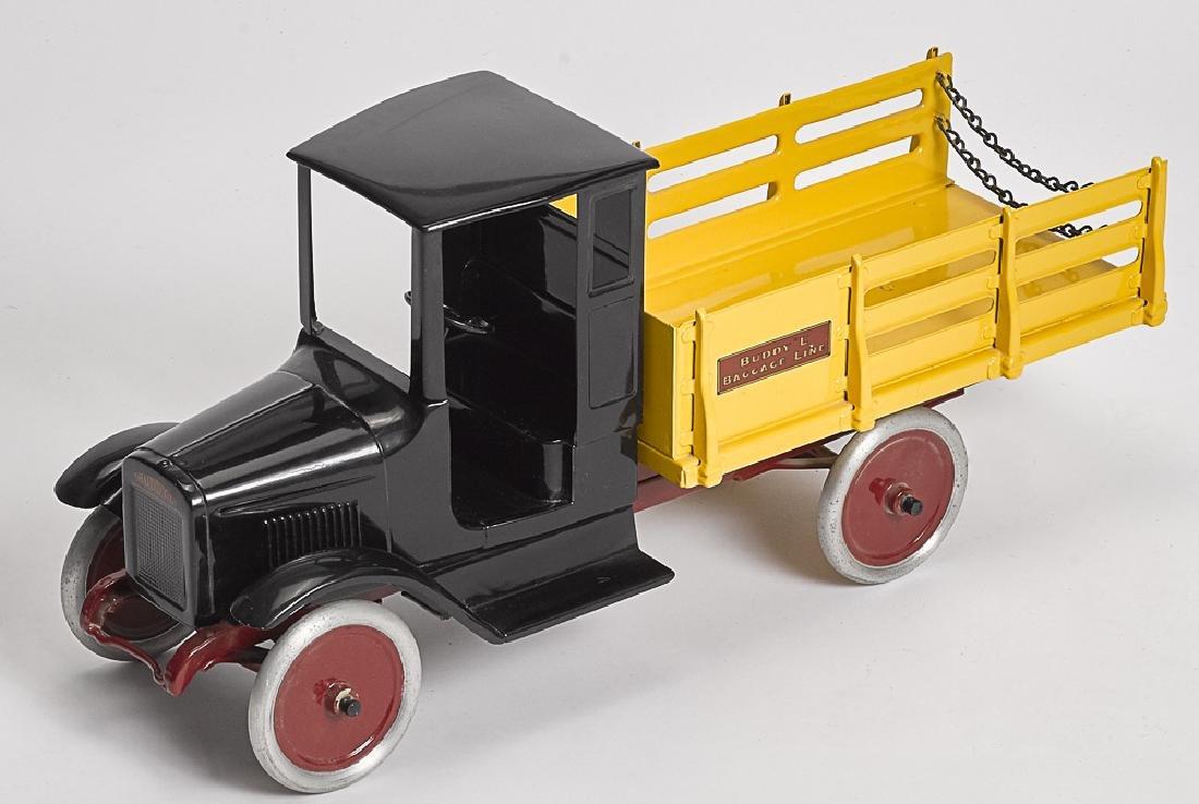 Restored Buddy L pressed steel Baggage Line truck
