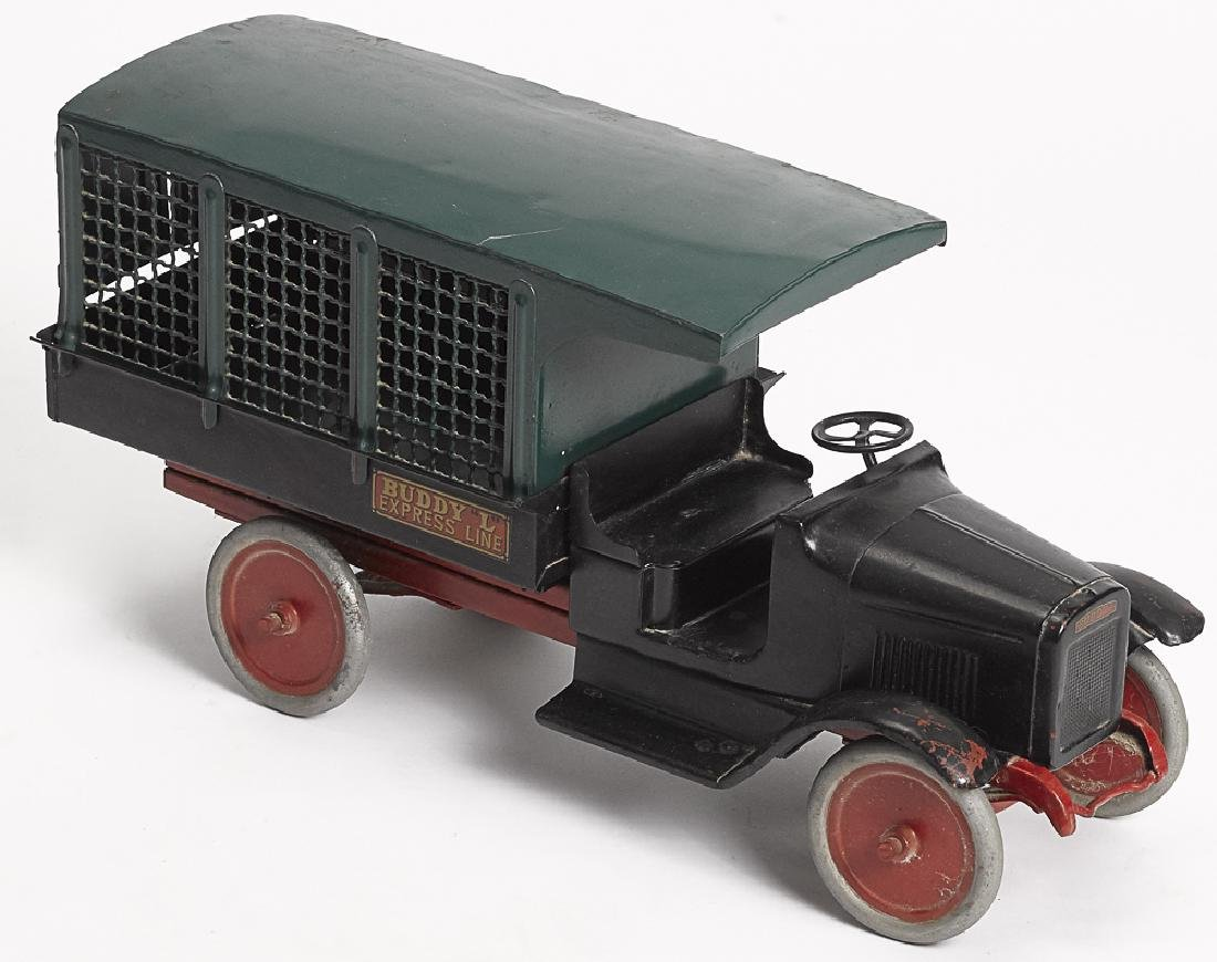 Buddy L pressed steel Express Line delivery truck