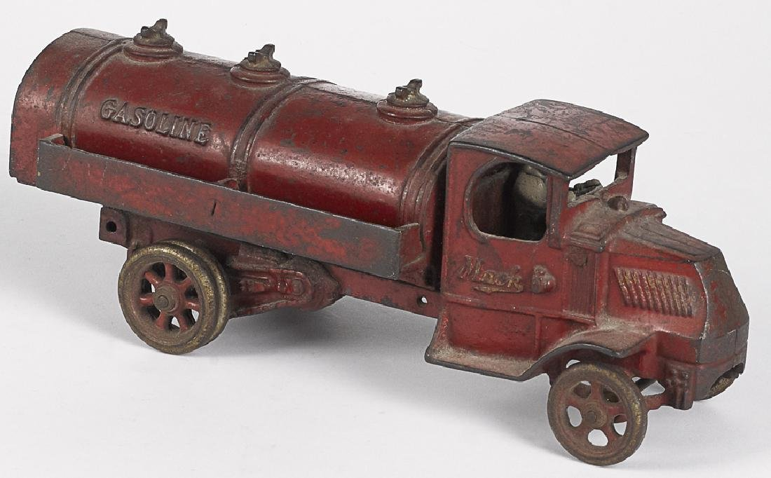 Arcade cast ion Mack Gasoline tanker truck