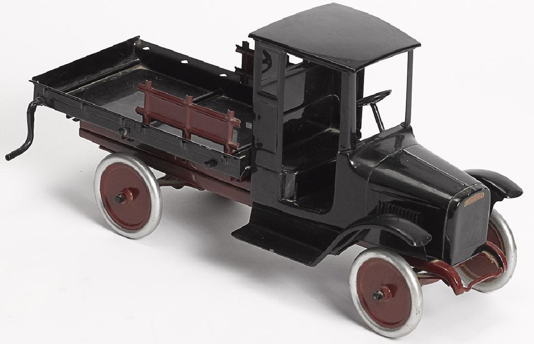 Restored Buddy L pressed steel lumber truck