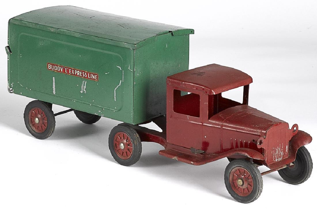 Buddy L pressed steel tandem delivery truck