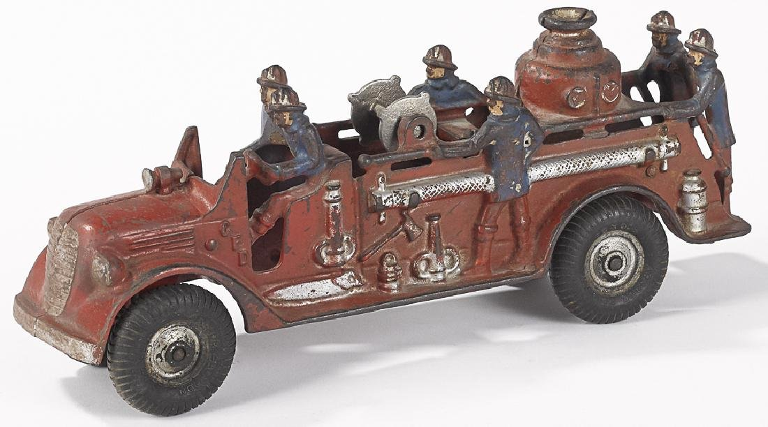 Arcade cast iron fire pumper truck