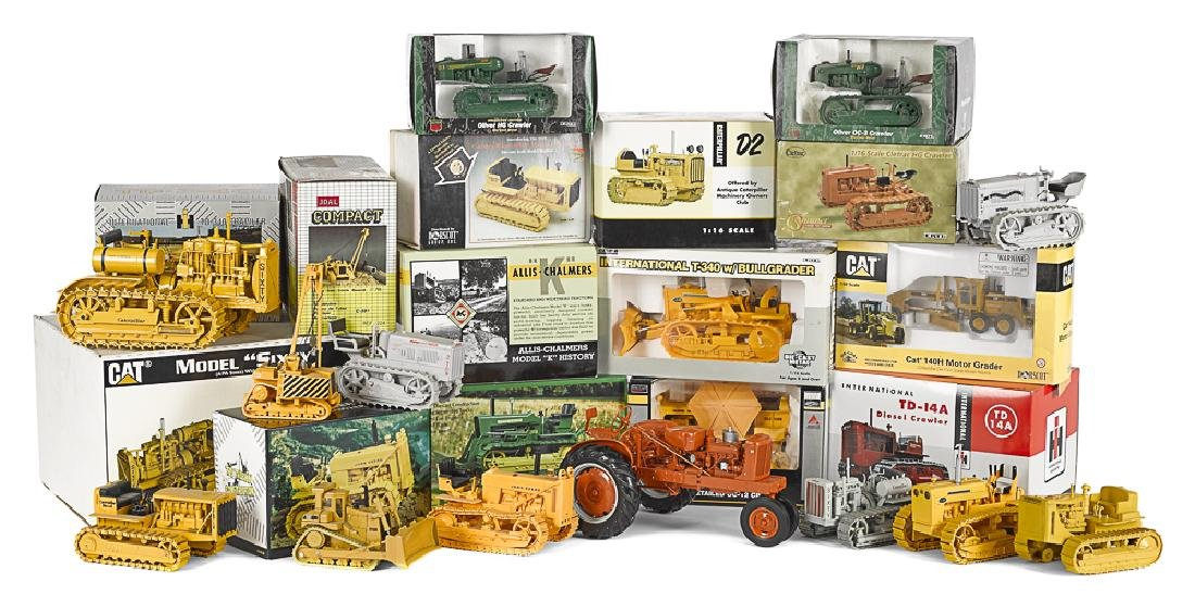 Nineteen contemporary diecast tractors