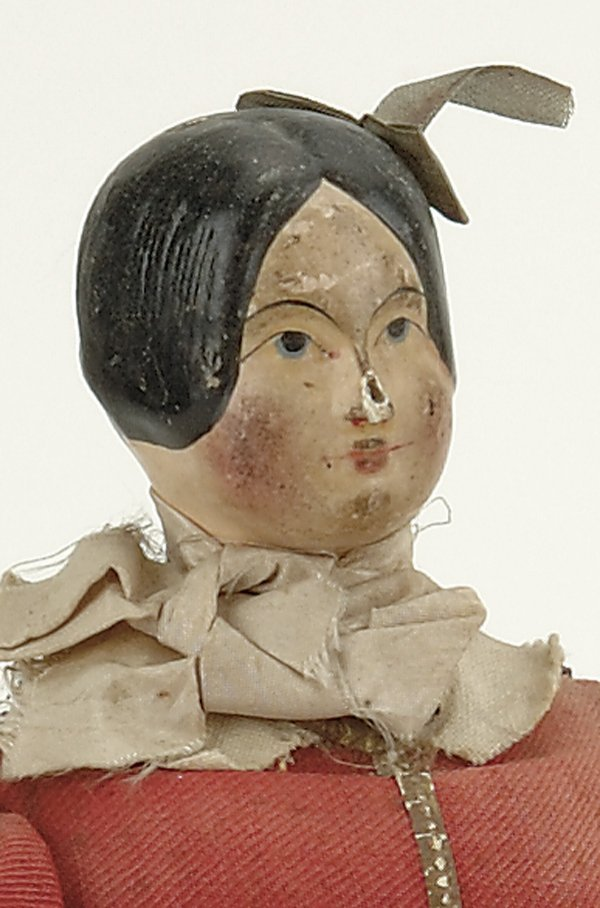 1: Early Papier Mache Mechanical Doll