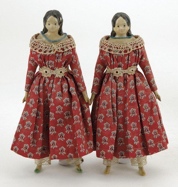 7: Twin Papier Mache Milliner Models
