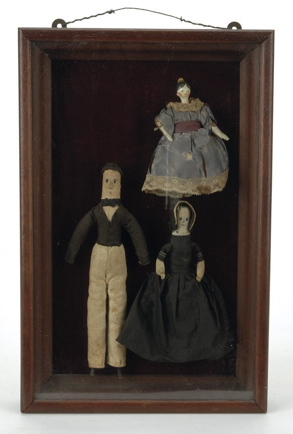 10: Early Shadowbox with 3 Dolls