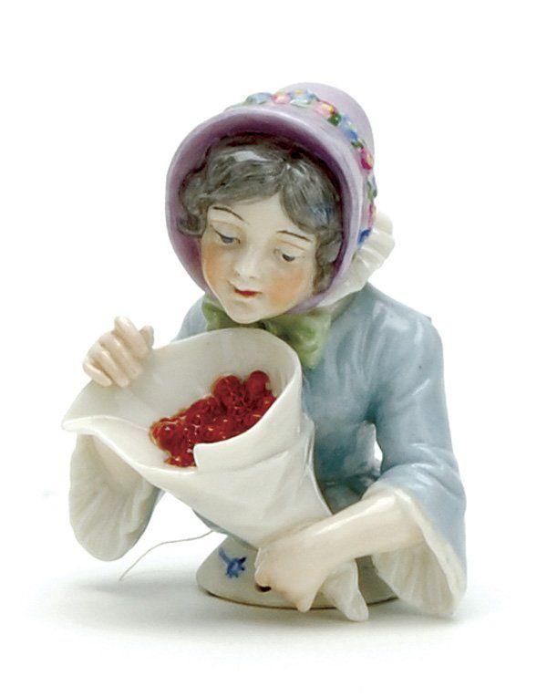 Dressel & Kister Half Doll Holding Cherries