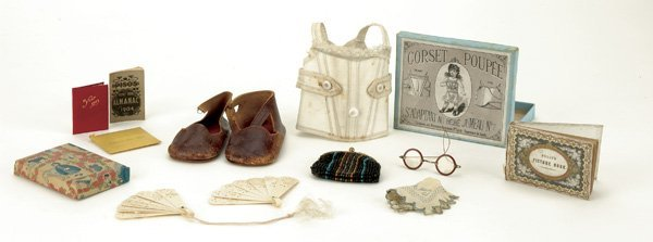958: Lot : French Doll Accessories including Shoes and