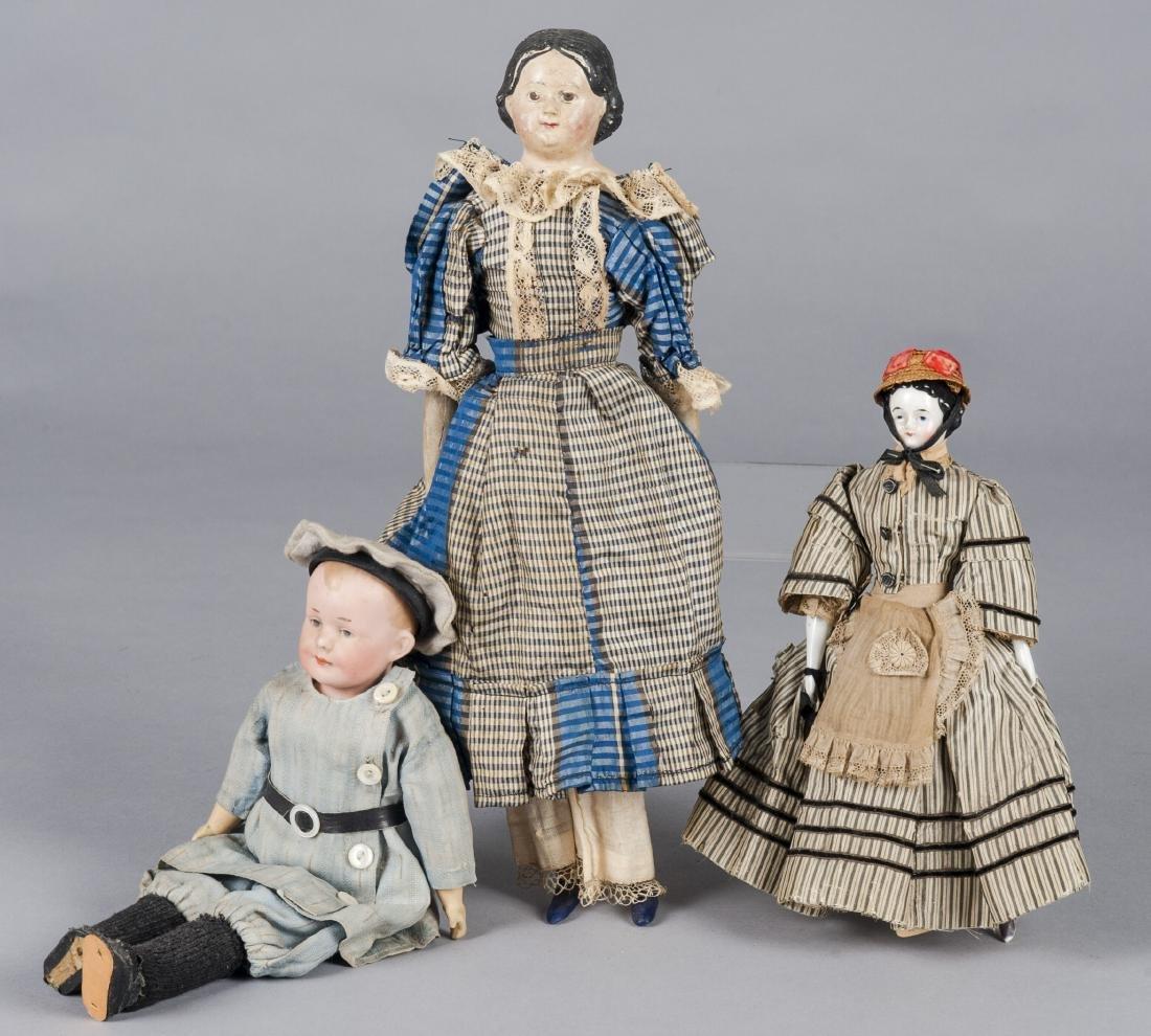 German Armand Marseille bisque head boy doll