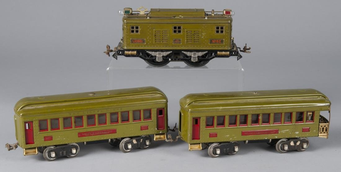 Lionel three-piece train set