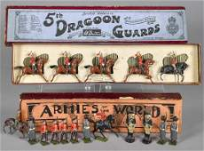 Two Britain's toy soldier sets