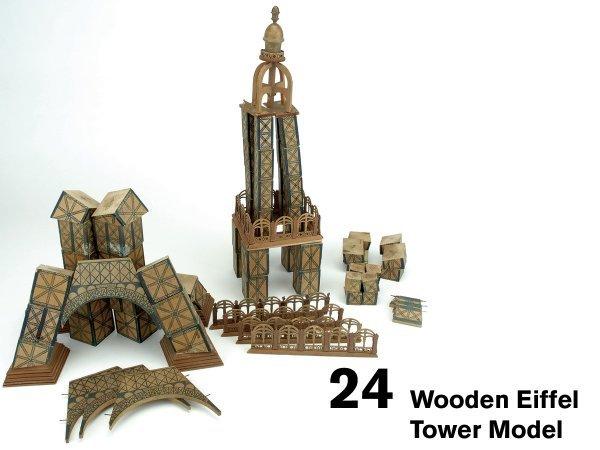 24: Wooden Eiffel Tower Model