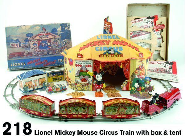 218: Lionel Mickey Mouse Circus Train with box & tent