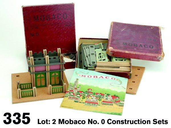 335: Lot: 2 Mobaco No. 0 Construction Sets